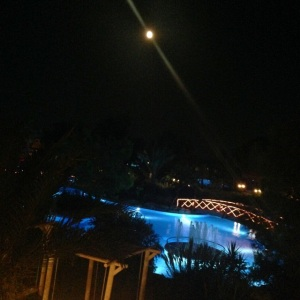 Our last night in Antalya.  The moon took my breath away.